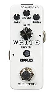 【RIPPERS】 ミニペダル シリーズ クリーンブースター WHITE BOOSTER (国内正規品)