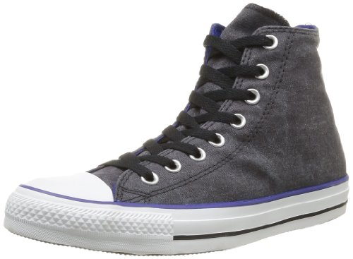 CONVERSE Unisex-Adult Chuck Taylor All Star Washed Hi Trainers 358600-61-8 Noir 9.5 UK, 43 EU