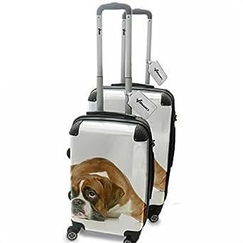 Amazon.com: Dogs 10009, Boxer, 2 Piece Lightweight Hard Case Luggage