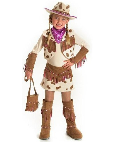 Childs Deluxe Rhinestone Cowgirl Costume