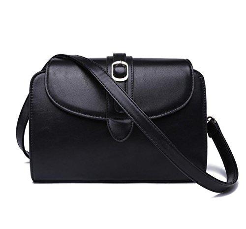 GQQ NUOVE borse a tracolla borse moda PU Dacron per Shopping Party e Workplaceup a 4,5 L GQ borsa @ , black