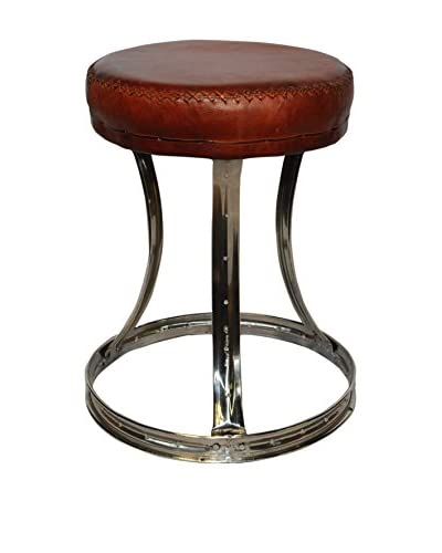 Foreign Affairs Circa Stool, Brown/Silver