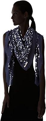 Hilfiger Denim Women's DW0DW00769 Scarf, Mehrfarbig (Navy Blazer/Classic White 901), One Size