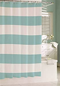 Kassatex 100 Cotton Shower Curtain Wide Stripes Fabric Shower C