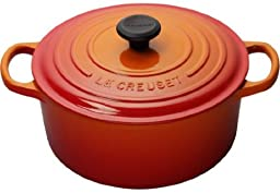 Le Creuset Signature Enameled Cast-Iron 9-Quart Round French (Dutch) Oven, Flame