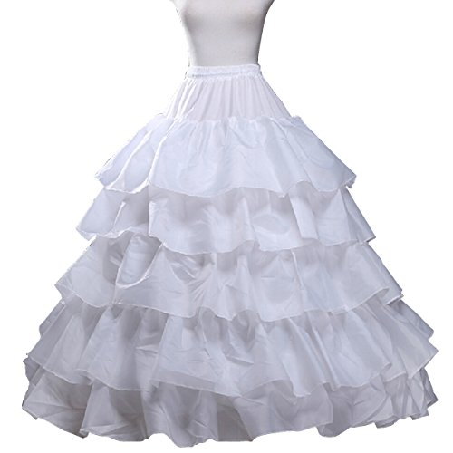 Fashion Plaza 5layers 3hoops Bridal Petticoats for A-line Wedding Dress A0009