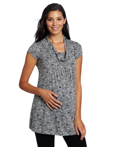 Three Seasons Maternity Women's Short Sleeve Solid Print Tunic Top