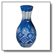 Vase Cut Glass - Cobalt Blue, 5.75