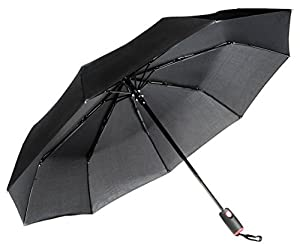 Repel Easy Touch Umbrella DuPont Teflon Travel Umbrella, Black