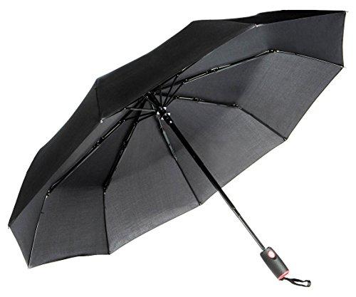 Repel Easy Touch Umbrella DuPont Teflon Travel Umbrella, Black (Rain Umbrella Wind Resistant compare prices)