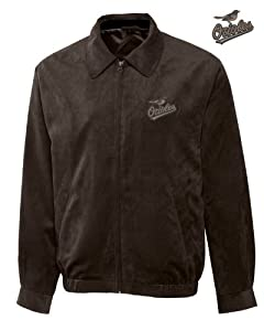 Baltimore Orioles Mens Micro Suede City Bomber Jacket by Cutter & Buck