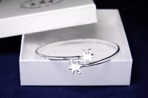 Autism Awareness Bracelet-Autism Tiffany Bangle (18 Bracelets)