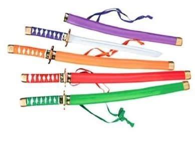 Fun Express Neon Plastic Samurai Swords (1 Dozen)