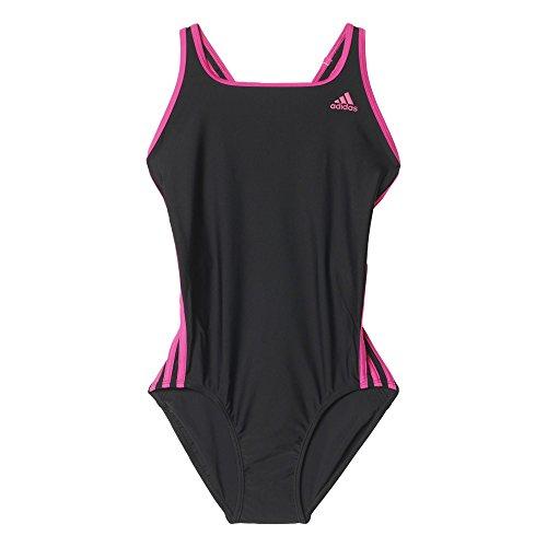Adidas I 3S 1Pc Costume da Bagno da Donna, Colore Nero/Rosa (Nero/Eqtros), Taglia 52 IT