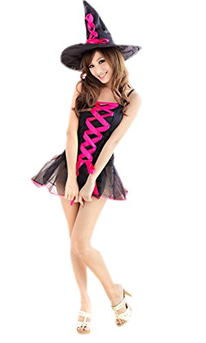 Lasexy Women Strapped Witch Party Show Pub Halloween Cosplay Outfit Mini Dress