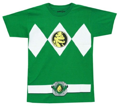 Mighty Morphin Power Rangers Costume Men's T-shirt (XXL, Green) (Power Rangers Green Tshirt compare prices)