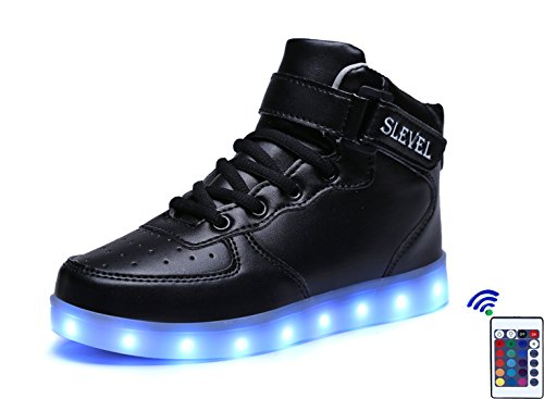SLEVEL-16-Colors-LED-Light-Up-Shoes-USB-Flashing-Sneakers-for-Kids-Boys-Girls