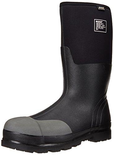 Bogs Men's Forge Steel Toe Waterproof Work Boot,Black,9 M