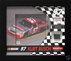 Kurt Busch Framed Photo with Race Used Tire by Boston Sports