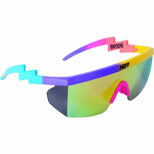 Neff Brodie Sunglasses Purple/Yellow/Blue