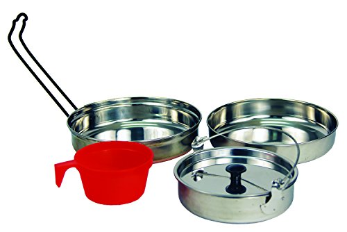 Texsport 5 pc Stainless Steel Camping Cookware Outdoor Mess Kit (Backpacking Fry Pan compare prices)