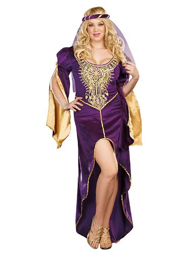 Plus Size Queen of Thrones Renaissance Sexy Adult Costume