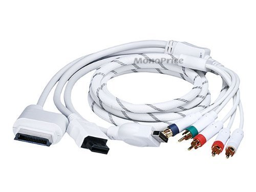 6FT 4 in 1 Component Cable for Xbox 360, Wii, PS3 and PS2