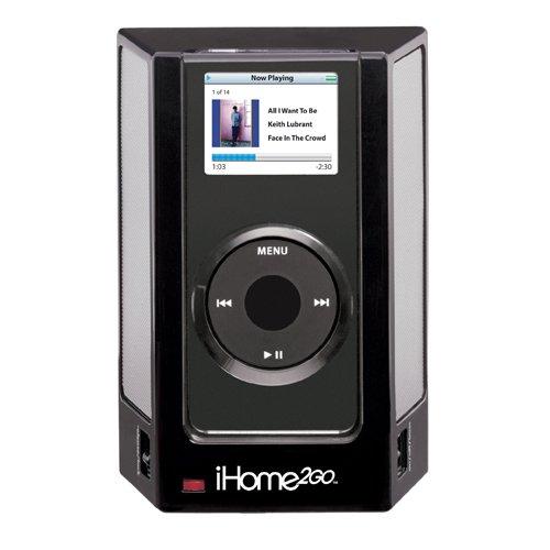 Ihome Ihm1 Portable Speaker System For Ipod Nano 1G (Black)