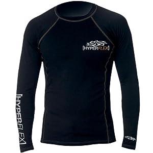 Hyperflex Wetsuits Mens Polyolefin L S Rash Guard by Hyperflex