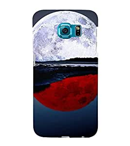 printtech Red White Moon Water Back Case Cover for Samsung Galaxy S6::Samsung Galaxy S6 G920