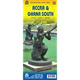 Accra City & Ghana South Travel Reference Map 1:23,000 / 1:500,000
