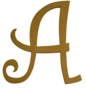 Amazoncom unfinished wooden letter a curlz 243939 large for Large wooden letters amazon