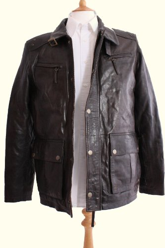 Mens Fashion Car Coat 46inch Chest, Dark Brown