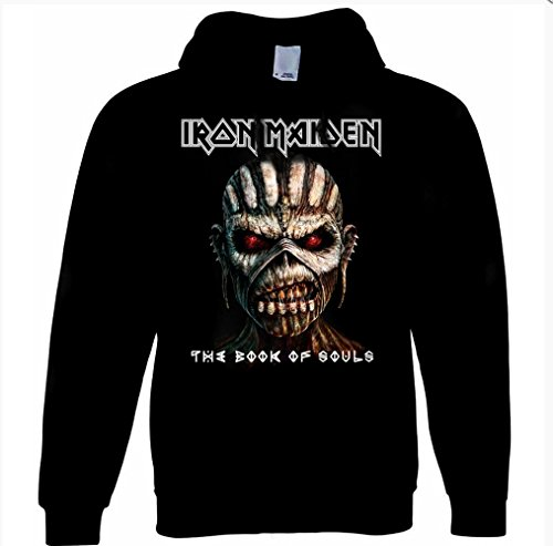 Iron Maiden-Book of Souls, da uomo con cappuccio Black M