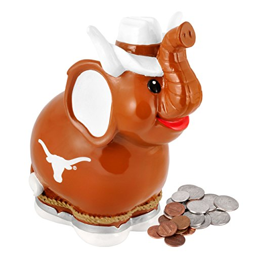 NCAA Texas Thematic Elephant Piggy Bank - 1