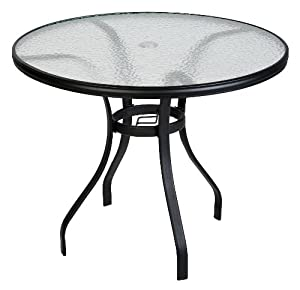 Outdoor Living 50102006 Round Rio Ebony Patio Dining Table 40 Inch