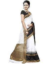 Buyonn Women's Art Silk Bhagalpuri Saree With Blouse Piece (Ofs1204-Sariz_Multi-Coloured)