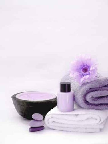 Leisure Wall Decals Purple Spa - 18 Inches X 14 Inches - Peel And Stick Removable Graphic