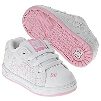 DC Kids Court Graffik SE Skate Shoe (Toddler),White/Pink,6 M US Toddler