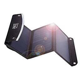 iNiCE™ Solar Portable Battery Charger Foldable High Efficiency Sunpower Solar Panel Charger with Dual USB Ports for iPhone, iPad, Samsung,Gopro Etc(18W,3.6A)