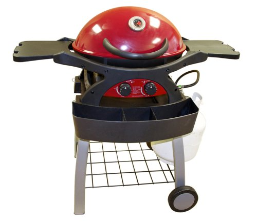 Sq220 Twin Grill Red Portable 310-Square-Inch 20,000-Btu Liquid-Propane Gas Grill With Cart Frame front-333659