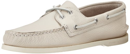 Sperry Authentic Original 2-Eye, Scarpe da Barca Uomo, Beige (Ice), 44 M