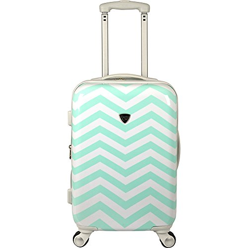 Travelers Club Luggage Modern 20 Inch Chevron Expandable Carry-On Spinner, Chevron, One Size