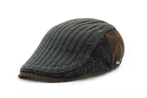 ychy-mens-knitted-wool-duckbill-hat-warm-newsboy-flat-scally-cap-deep-grey
