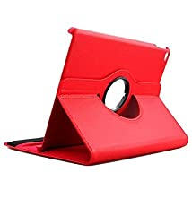 """TGKâ""""¢ 360 Degree Rotating Leather Smart Case Cover Stand for iPad Air 2 / iPad Air 6 (Red)"""