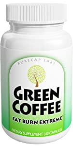 Green Coffee Extract 60 Caps, 100% Pure, Highest Quality Premium Unroasted Green Coffee 250 mg