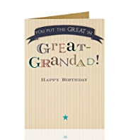 Great Grandad Star Birthday Card