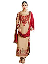 Admyrin Women Georgette Salwar Suit Set (Adm-Sk-Ka-1210 _Golden _46)