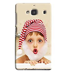 Blue Throat Baby In Santa Clause Hard Plastic Printed Back Cover/Case For Xiaomi Redmi 2s