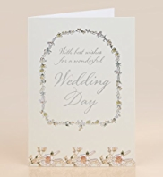 Floral Garland Wedding Card